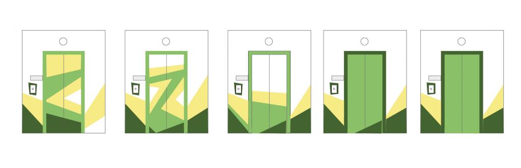 Варіанти оформлення дверей ліфту